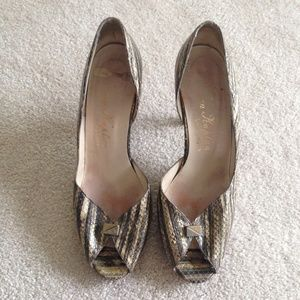 Rare 1960's Vintage Peep Toe Heels (Sz; 8)